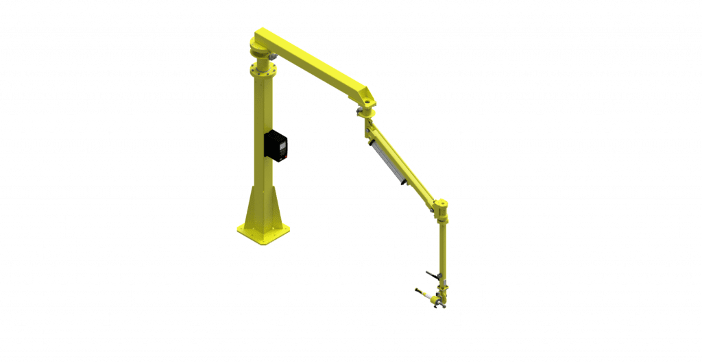 CAD graphic of a 1000 Nm GCI Torque Reaction arm