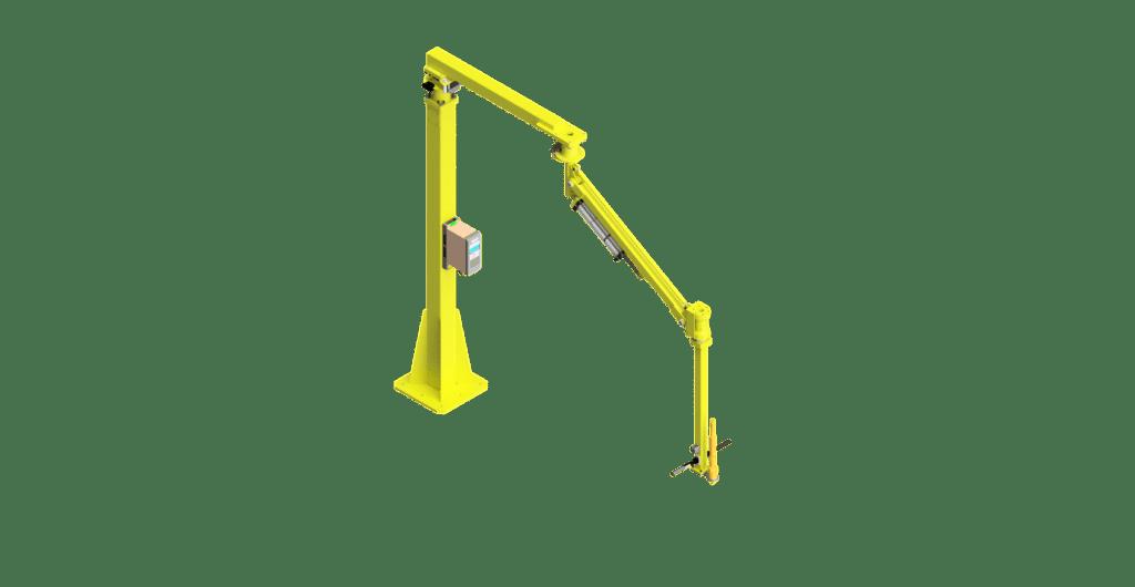 CAD graphic of a 1000 Nm GCI torque reaction arm