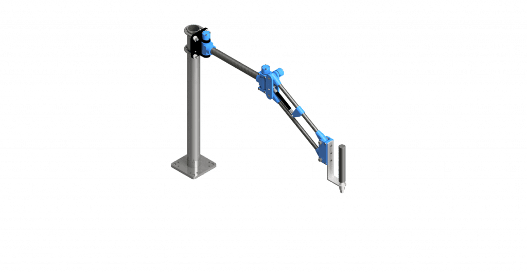 CAD rendering of a 100 Nm carbon fiber GCI torque arm