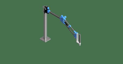 CAD rendering of a 100 Nm carbon fiber GCI torque arm