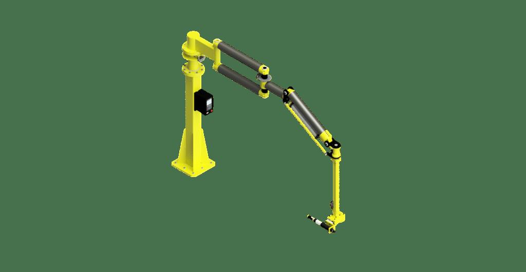 CAD graphic of a carbon fiber 1500 Nm GCI torque reaction arm