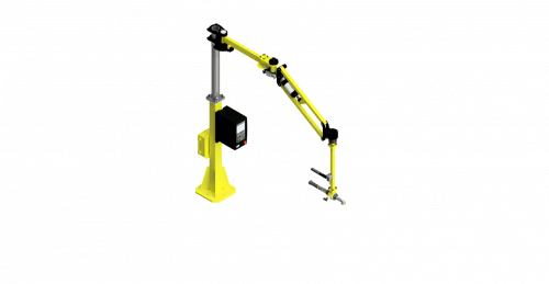 CAD rendering of a 150 Nm GCI torque reaction arm