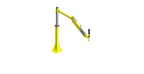 CAD model of a GCI torque arm with a 275 Nm capacity