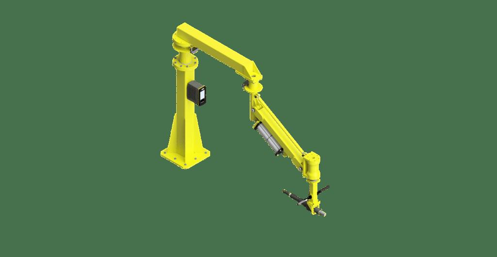 CAD graphic of a 3000 Nm GCI torque reaction arm