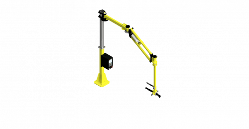 CAD rendering of a GCI torque arm with a 375 Nm capacity