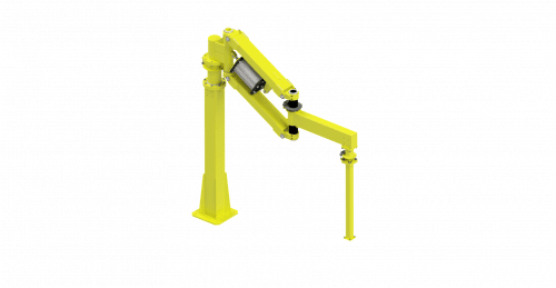 CAD graphic of a 4000 Nm GCI torque reaction arm