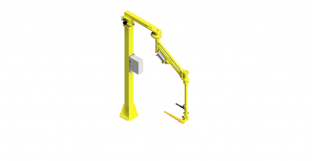 CAD model of a GCI torque arm with a 400 Nm capacity