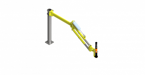 CAD rendering of a steel, 40 Nm GCI torque arm
