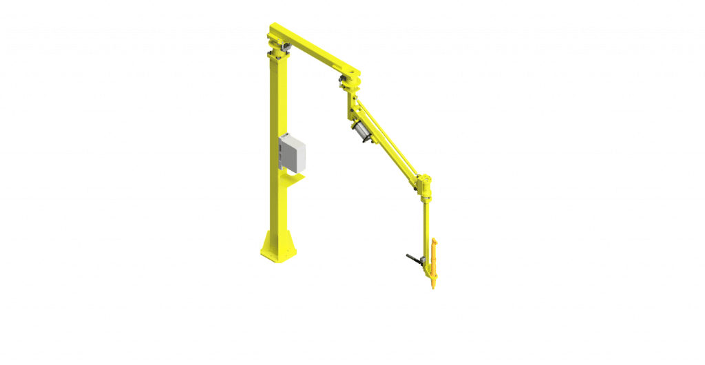 CAD model of a GCI torque reaction arm with a 550 Nm capacity