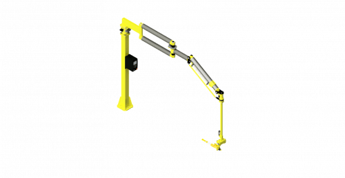 CAD model of a GCI carbon fiber torque reaction arm with a 600 Nm capacity