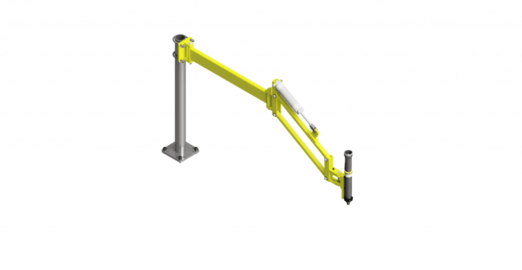 CAD render of a GCI 70 Nm torque reaction arm