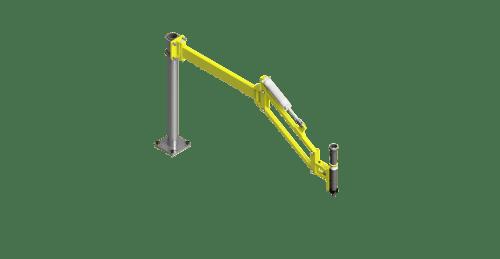 CAD render of a GCI 70 Nm torque reaction arm