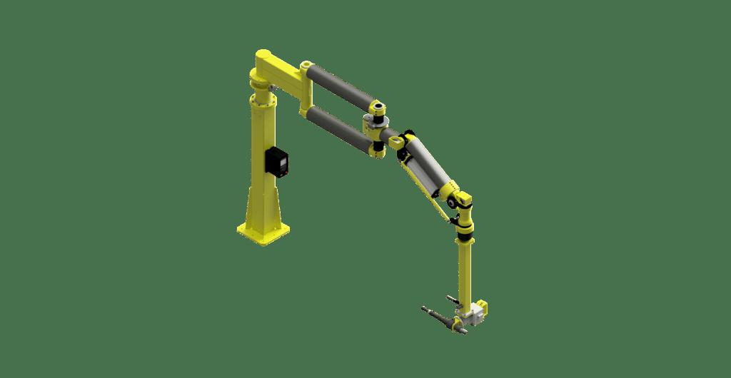 CAD graphic of a GCI 7500 Nm carbon fiber torque reaction arm