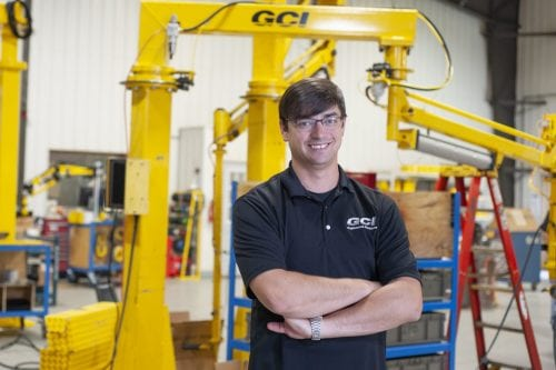 Mechanical engineer, Patrick Tamble, at GCI Engineered Solutions
