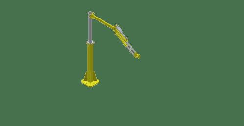 A 3D model of a GCI T135S 135 Nm capacity torque reaction arm
