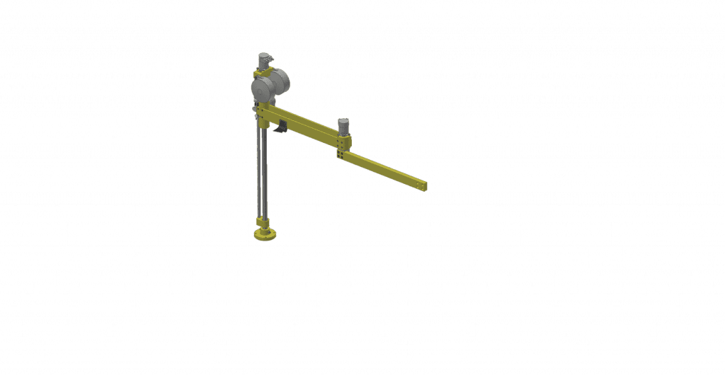 3D graphic of a GCI T150A aluminum torque reaction arm