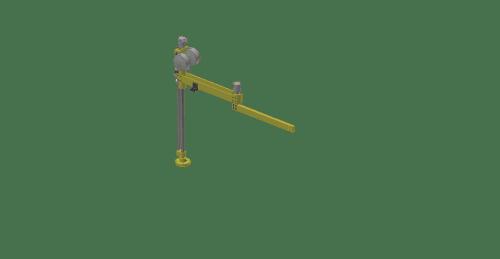 3D graphic of a GCI T150A aluminum torque reaction arm