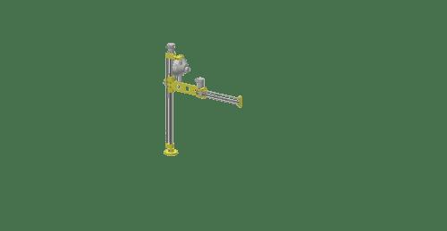 3d graphic of a GCI T50AS aluminum slide torque reaction arm
